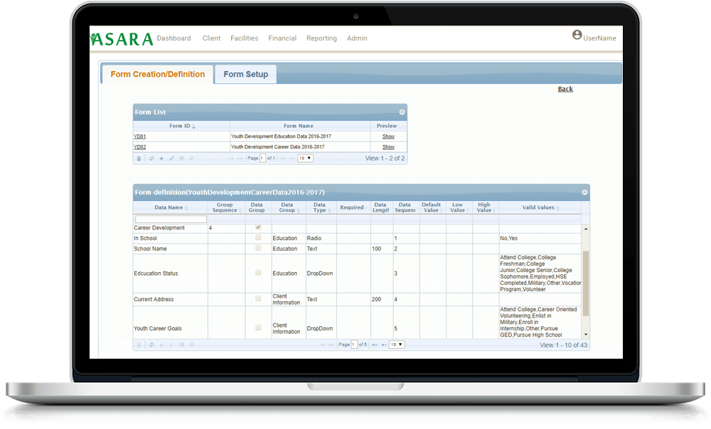 Custom Form Data Collection Software for Social Services